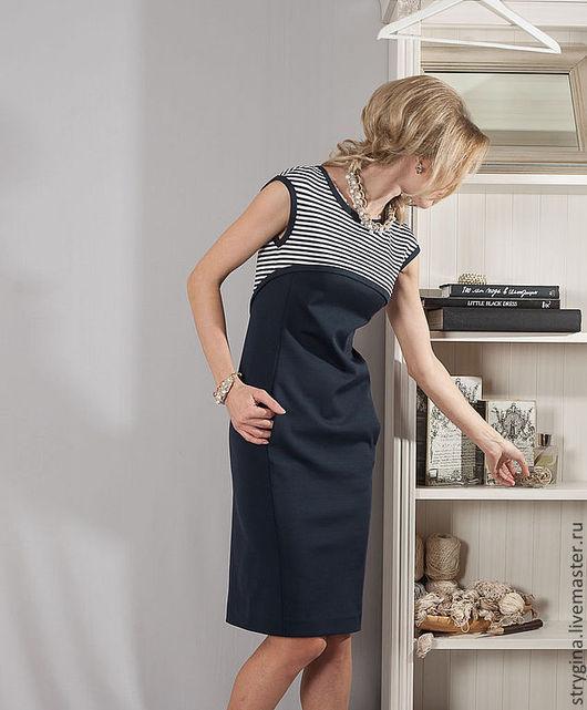 Платья ручной работы. Ярмарка Мастеров - ручная работа. Купить Платье Marina. Handmade. Тёмно-синий, пошив платья