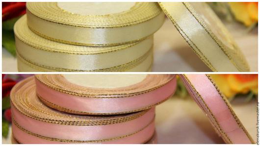 Другие виды рукоделия ручной работы. Ярмарка Мастеров - ручная работа. Купить Лента атласная 12 мм с люрексом. Handmade.