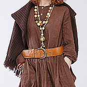 Одежда ручной работы. Ярмарка Мастеров - ручная работа Бохо платье 4-16 коричневый. Handmade.