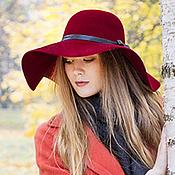 Аксессуары handmade. Livemaster - original item Wide-brimmed felt hat