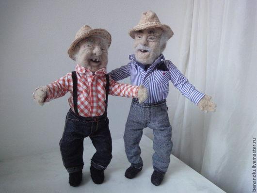 Человечки ручной работы. Ярмарка Мастеров - ручная работа. Купить Интерьерная кукла из шерсти. Дедуля №1. Handmade. Человечки из шерсти