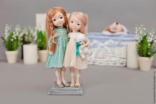 Коллекционные куклы ручной работы. Ярмарка Мастеров - ручная работа. Купить Ты моя сестренка. Handmade. Бежевый, бирюзовый, кукла