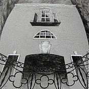 """Картины и панно ручной работы. Ярмарка Мастеров - ручная работа Картина """"Набережная"""" графика готика город. Handmade."""