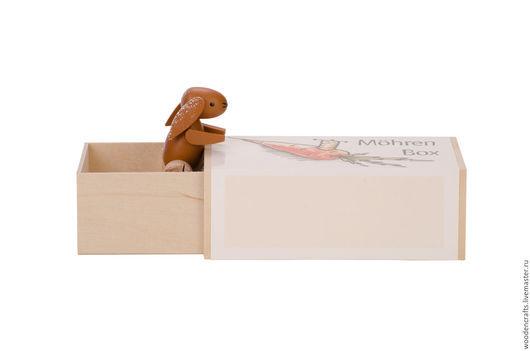 """Персональные подарки ручной работы. Ярмарка Мастеров - ручная работа. Купить Музыкальная шкатулка-сюрприз """"Заяц с морковкой"""". Handmade. Комбинированный"""