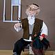 Коллекционные куклы ручной работы. Ярмарка Мастеров - ручная работа. Купить Портной. Handmade. Коричневый, портной, авторская кукла