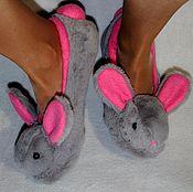 Обувь ручной работы handmade. Livemaster - original item Bunny Slippers ballet shoes. Handmade.