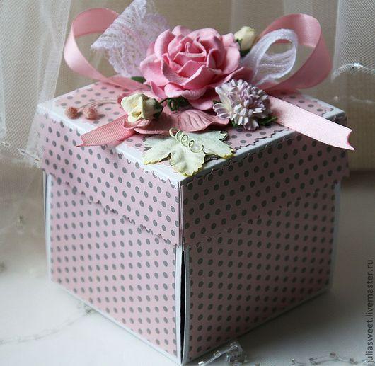 """Конверты для денег ручной работы. Ярмарка Мастеров - ручная работа. Купить Коробочка для денег """"Розовое сияние"""". Handmade. Коробочка, эмбоссинг"""