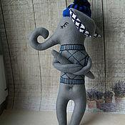 Куклы и игрушки ручной работы. Ярмарка Мастеров - ручная работа Слоник в шапочке. Handmade.