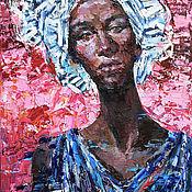Картины и панно handmade. Livemaster - original item African woman portrait painting - Original oil painting. Handmade.