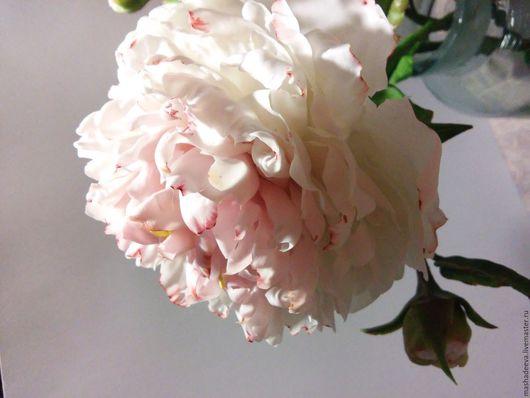 Цветы ручной работы. Ярмарка Мастеров - ручная работа. Купить Пионы реалистичные из холодного фарфора, полноразмерные. Handmade. Пионы