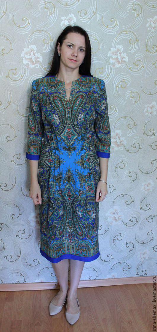 Платья ручной работы. Ярмарка Мастеров - ручная работа. Купить Платье Бирюсинка синее. Handmade. Синий, сшить платье, вискоза