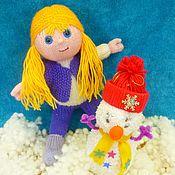Куклы и игрушки ручной работы. Ярмарка Мастеров - ручная работа Кукла Варенька  в зимнем наряде. вязаная игрушка. Handmade.