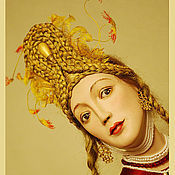 """Куклы и игрушки ручной работы. Ярмарка Мастеров - ручная работа Фарфоровая кукла """"Жар-птица"""". Handmade."""
