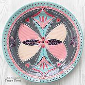 Посуда handmade. Livemaster - original item Decorative plate No. №4 from the series