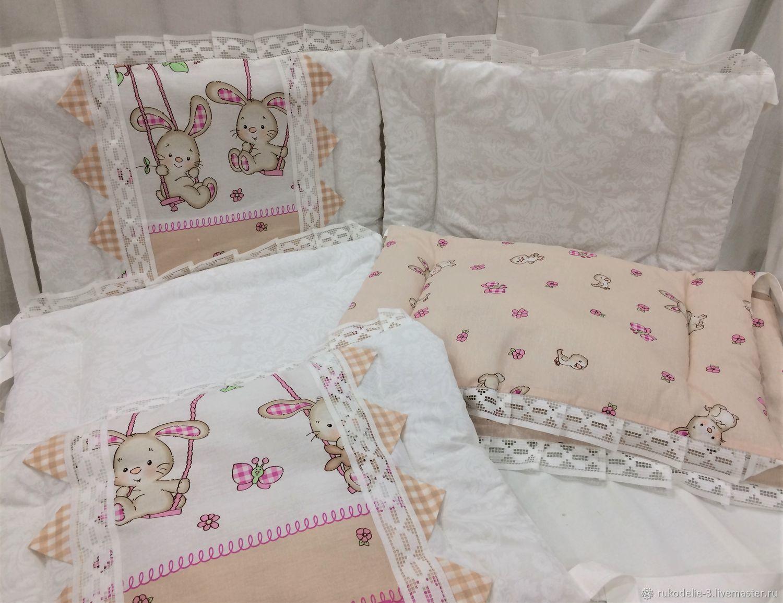 Бортики в детскую кроватку -№14 размер 40х60см, Текстиль, Балашиха, Фото №1