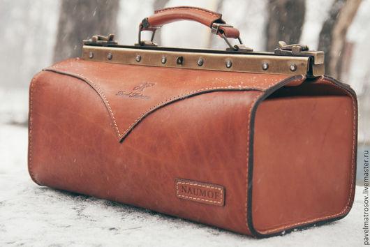 Женские сумки ручной работы. Ярмарка Мастеров - ручная работа. Купить Саквояж из натуральной кожи. Handmade. Саквояж, натуральная кожа