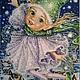 Фантазийные сюжеты ручной работы. Ярмарка Мастеров - ручная работа. Купить Снежный Эльф. Handmade. Синий, сказка, зима, человечек