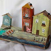 Для дома и интерьера handmade. Livemaster - original item Interior houses No. №1 sea beach yellow blue. Handmade.