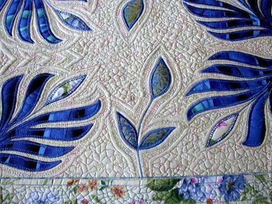 """Текстиль, ковры ручной работы. Ярмарка Мастеров - ручная работа. Купить Дорожка на стол """"Синий цвет"""". Handmade. Синий"""