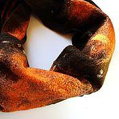 """Аксессуары ручной работы. Ярмарка Мастеров - ручная работа Снуд """"Апельсин в шоколаде"""". Handmade."""