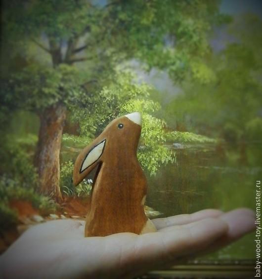 """Развивающие игрушки ручной работы. Ярмарка Мастеров - ручная работа. Купить Деревянная игрушка """"Зайчик"""". Handmade. Коричневый, древесина"""