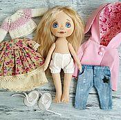 Куклы и игрушки ручной работы. Ярмарка Мастеров - ручная работа Кукла с набором одежды №20. Handmade.