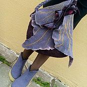 Обувь ручной работы. Ярмарка Мастеров - ручная работа Шерстяной эко- комплектик  Аметистовый цветок. Handmade.