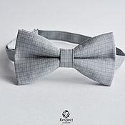 Аксессуары handmade. Livemaster - original item Tie grey Cardinal / textured bow tie on a gift. Handmade.
