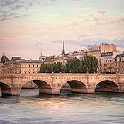 """Картины и панно ручной работы. Ярмарка Мастеров - ручная работа Париж фото картины для интерьера, Городской пейзаж с водой """"Pont Neuf"""". Handmade."""