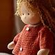 Вальдорфская игрушка ручной работы. Надюша, 40см. Калина Ерофеева куклы для детей. Ярмарка Мастеров. Кукла для девочки, твид