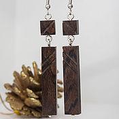 Украшения handmade. Livemaster - original item Earrings made of wood, Blackwood. Handmade.