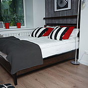 Кровати ручной работы. Ярмарка Мастеров - ручная работа Кровать в стиле ЛОФТ (индустриальный стиль). Handmade.