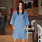 Одежда handmade. Livemaster - original item Tunic dress, tunic knitted. Handmade.