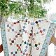 Лоскутное стеганое одеяло `Молочный Коктейль` (лоскутное покрывало, плед). Лоскутная техника (пэчворк). Мастер Lady Olga (Ольга)