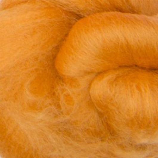Валяние ручной работы. Ярмарка Мастеров - ручная работа. Купить Меринос 16 мк окрашенный - цвет Мед. Handmade.