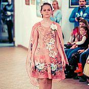 """Одежда ручной работы. Ярмарка Мастеров - ручная работа Платье-кейп валяное """"Лилии в цвету"""". Handmade."""