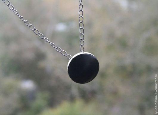 """Кулоны, подвески ручной работы. Ярмарка Мастеров - ручная работа. Купить Кулон с гагатом """"Ночь"""". Handmade. Черный, подвеска"""