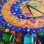 """Для дома и интерьера ручной работы. Ярмарка Мастеров - ручная работа Часы большие """"День и ночь"""". Handmade."""