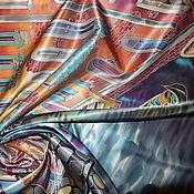 """Аксессуары ручной работы. Ярмарка Мастеров - ручная работа Шелковый платок батик""""Венеция"""". Handmade."""