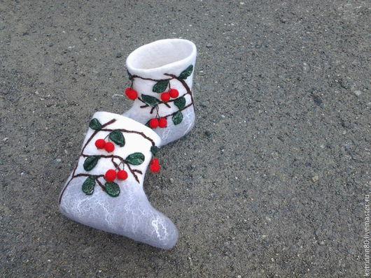 """Обувь ручной работы. Ярмарка Мастеров - ручная работа. Купить Валенки """"Вишенка"""". Handmade. Серый, валенки для улицы"""