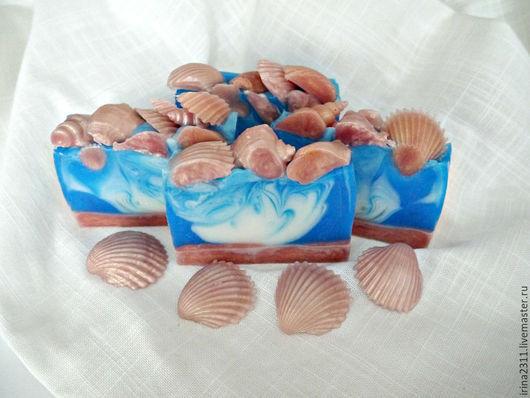 """Мыло ручной работы. Ярмарка Мастеров - ручная работа. Купить Мыло """"Море волнуется"""". Handmade. Разноцветный, масло оливы"""