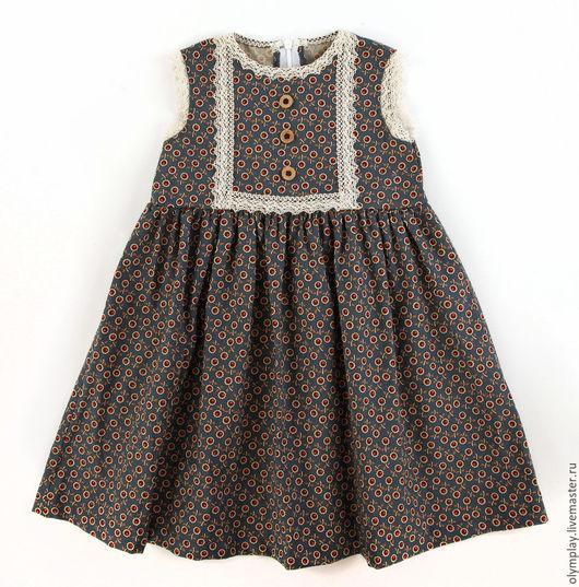 Одежда для девочек, ручной работы. Ярмарка Мастеров - ручная работа. Купить Платье (200398). Handmade. Тёмно-синий, сарафанчик, подарить