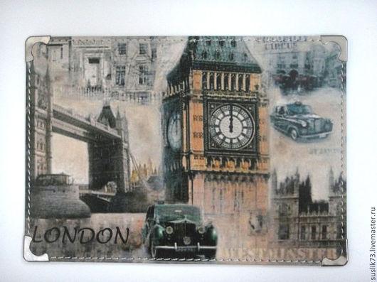 """Обложки ручной работы. Ярмарка Мастеров - ручная работа. Купить обложка для паспорта """"Лондон"""". Handmade. Подарок, обложка для паспорта"""