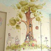 Дизайн и реклама ручной работы. Ярмарка Мастеров - ручная работа Роспись детской комнаты Мумики:). Handmade.