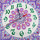 'Persian lilac ' big clock with painted purple. Watch. Vitreous Wood***Tatiana***. My Livemaster. Фото №5