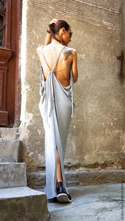 Платье в пол сарафан летний летнее платье платье серое сексуальное платье летнее платье в пол сарафан на лето