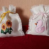 Свадебный салон ручной работы. Ярмарка Мастеров - ручная работа льняные мешочки с вышивкой. Handmade.