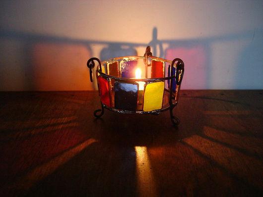 """Подсвечники ручной работы. Ярмарка Мастеров - ручная работа. Купить подсвечник """"римский"""". Handmade. Подсвечник, стекло"""