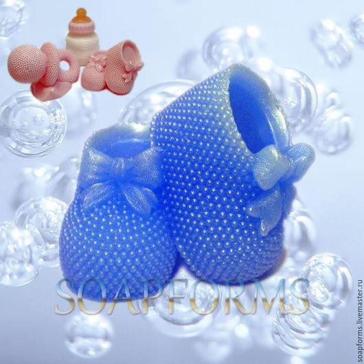 Силиконовая форма для мыла и свечей `Пинетки` (работа выполнена в мыле)