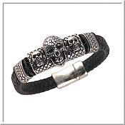 Украшения handmade. Livemaster - original item Men`s leather bracelet No. 17 accessories steel 316L. Handmade.